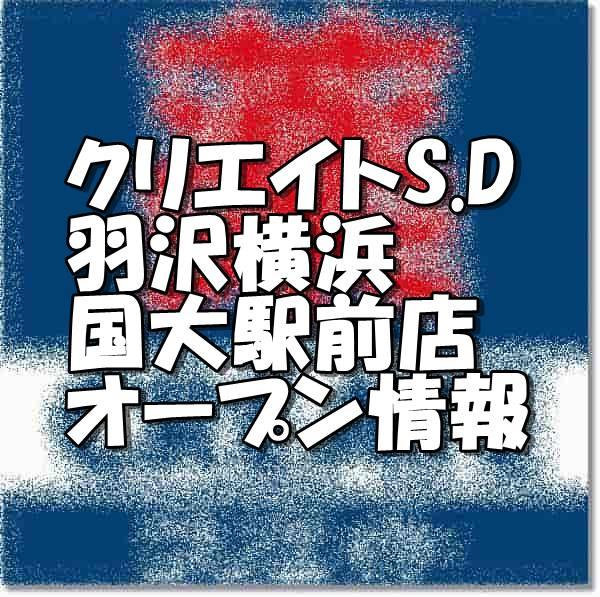 クリエイトエス・ディー羽沢横浜国大駅前店新規オープン情報