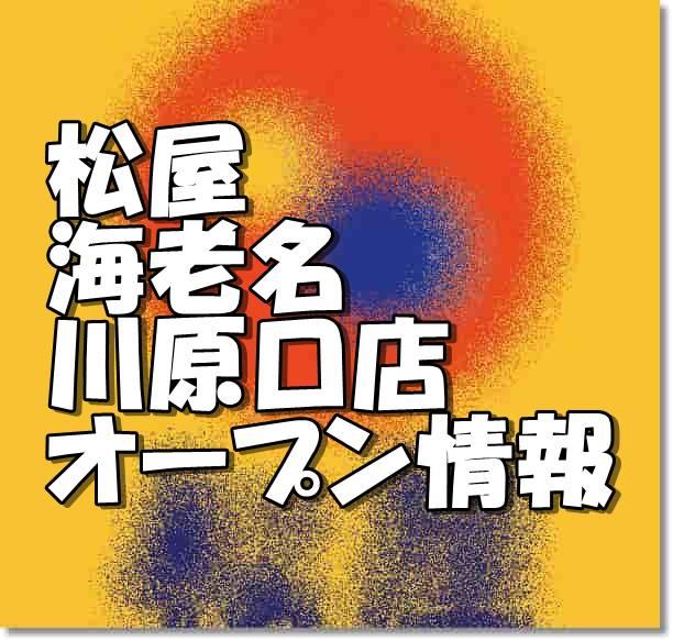 松屋海老名河原口店新規オープン情報
